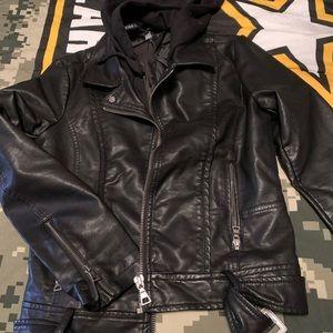 Design lab sz small leather coat
